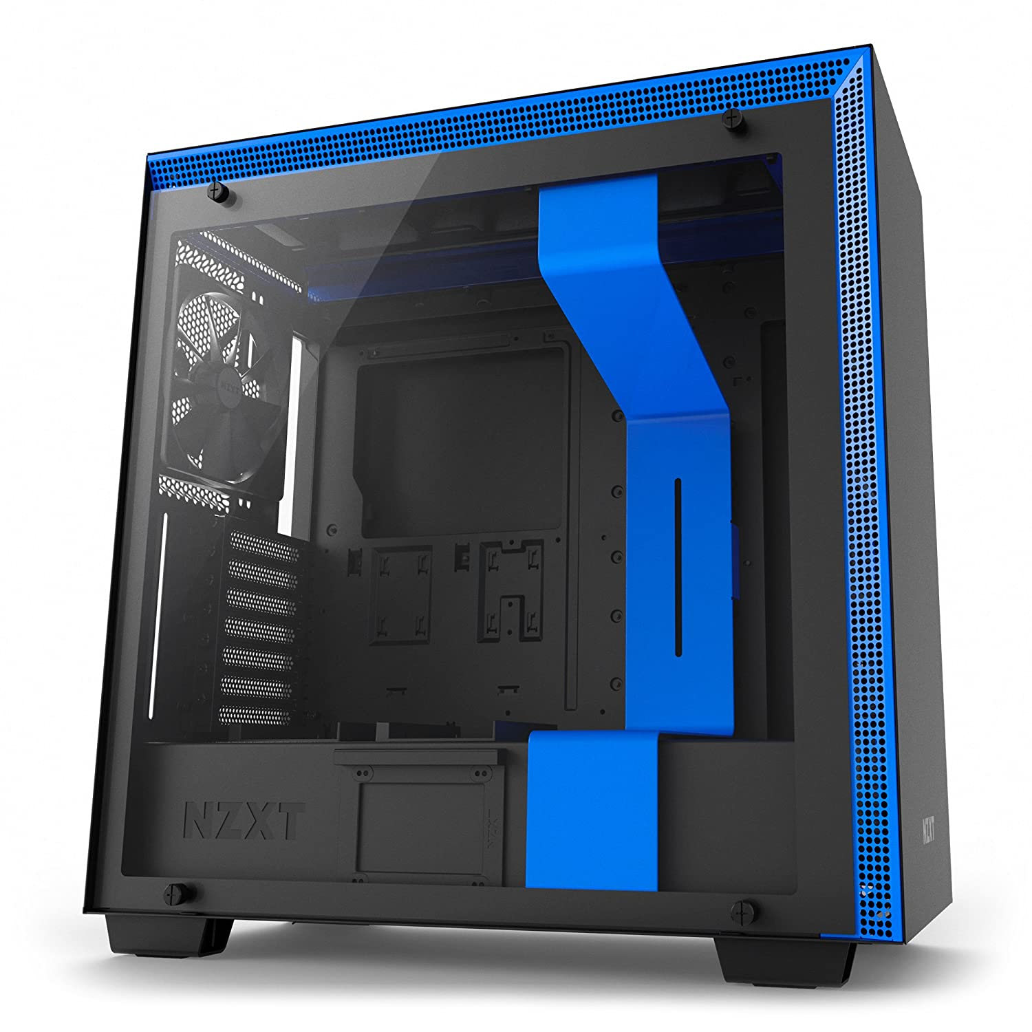 NZXT H500 - Compact ATX PC Gaming Case - Tempered Glass - Enhanced Cable Management - Water-Cooling Ready - Black