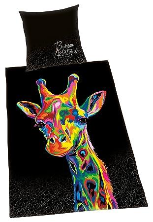 Herding Bureau Artistique Bettwäsche Set Giraffe Wendemotiv