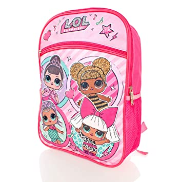 "Details about  LOL Surprise 16/"" Large School Backpack Girl/'s Book Bag"