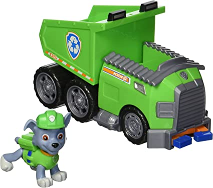 Paw Patrol Rocky Recycle Truck Vehicle /& Figure