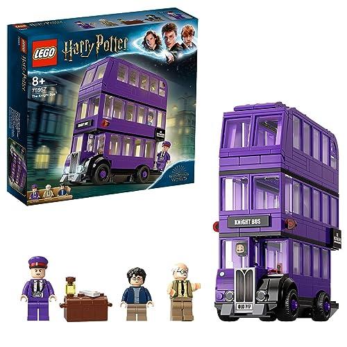 LEGO Le Magicobus Bus Violet à 3 Niveaux Inclus 3 Figurines Inspiré du Film Harry Potter Jeu d Assemblage 75957 Multicolore