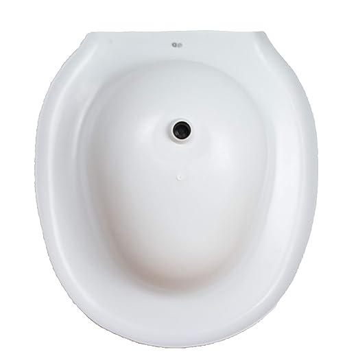 Bidé sanitario acoplable al inodoro de plástico | Medidas: 38 x 41,5 x 14 cm | con tapón