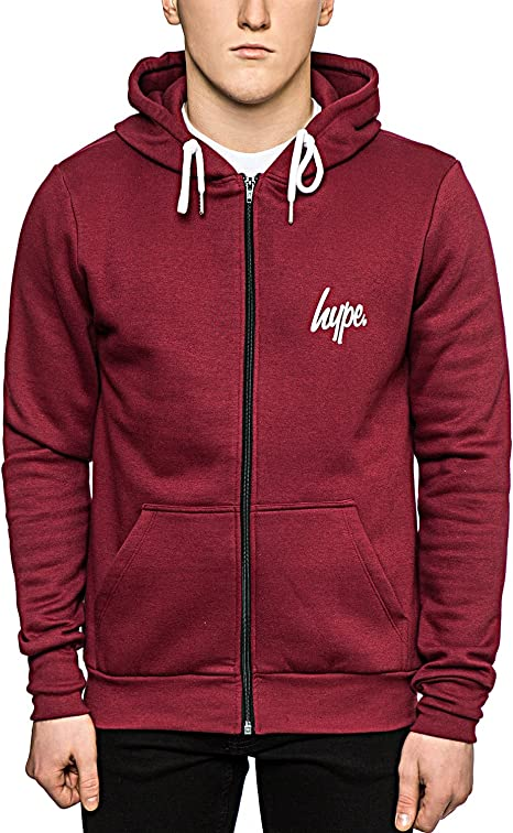 HYPE Zip Hoodie Chest Logo Hooded Sweatshirt Jacket