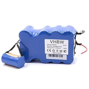 vhbw NiMH batería 2000mAh (18V) para aspiradora robot autónomo de limpieza Bosch BBHMove4, BBHMove6, BBHMove6/03: Amazon.es: Hogar