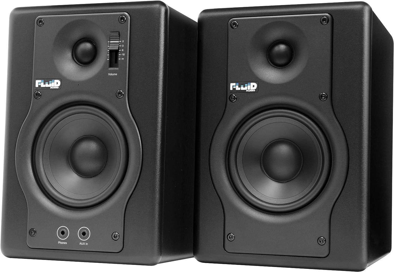 Fluid Audio F4 Advanced Powered Studio Monitors: Amazon.co.uk: Musical  Instruments