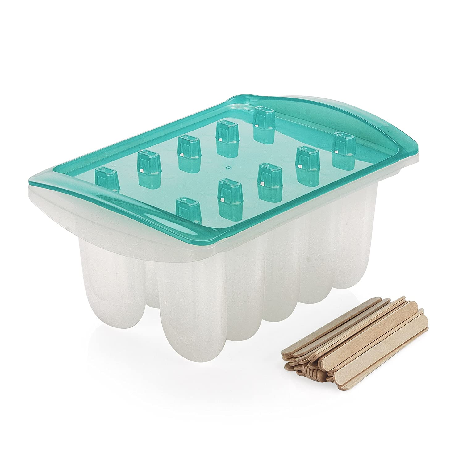 Sweet Creations Popsicle Maker Set with Wooden Sticks, Blue 05004