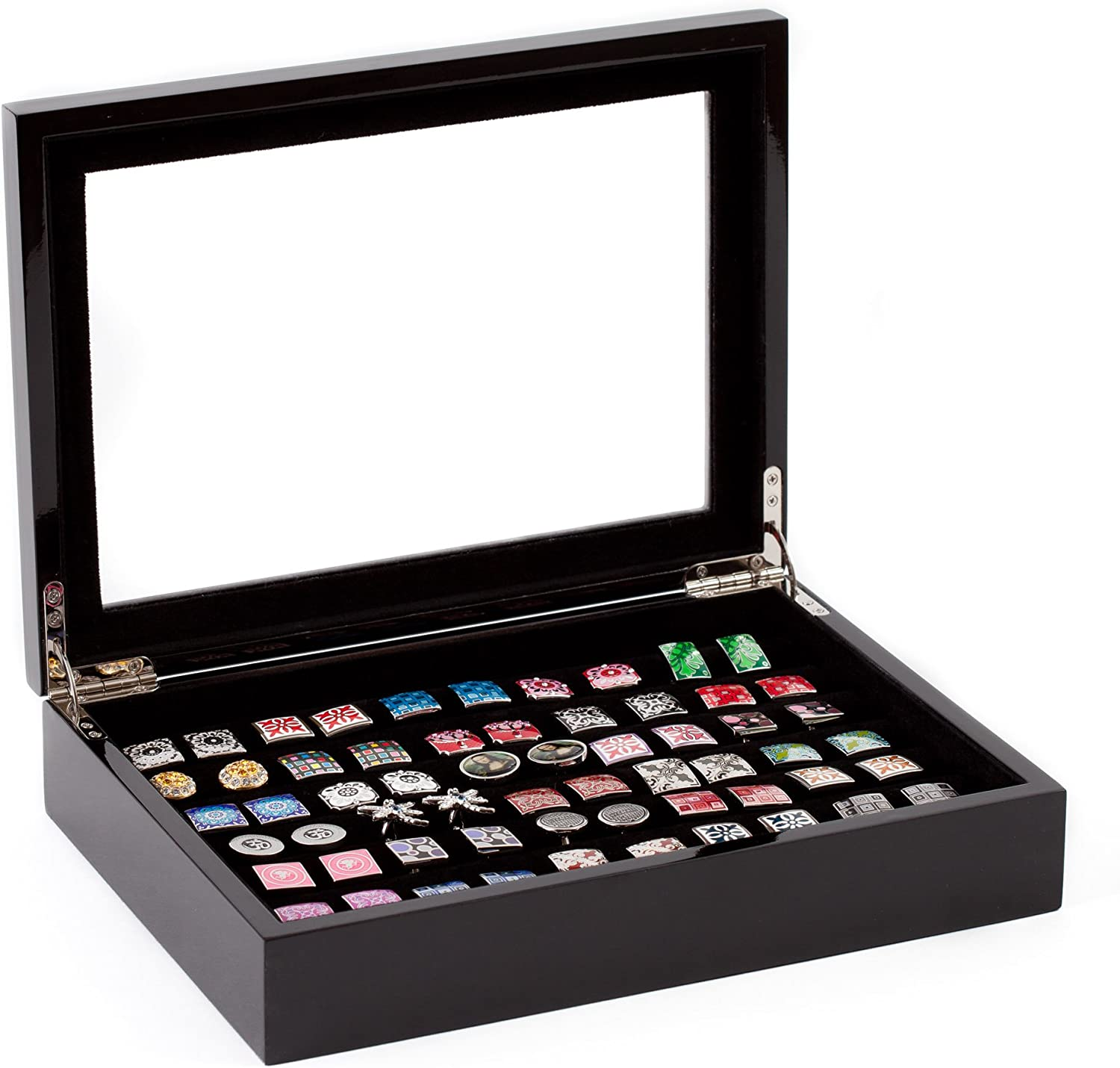 Cuff-Daddy Black Cufflinks and Rings Storage Box/Case (Holds 36 Pairs)