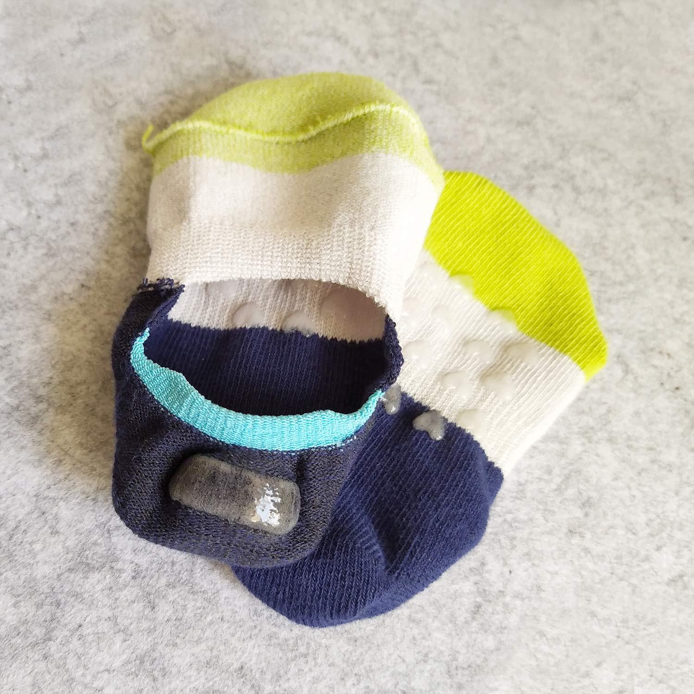 VWU Toddler Socks No Show Kids Baby Low Cut Cotton Socks Anti Slip 1-3//3-5Y