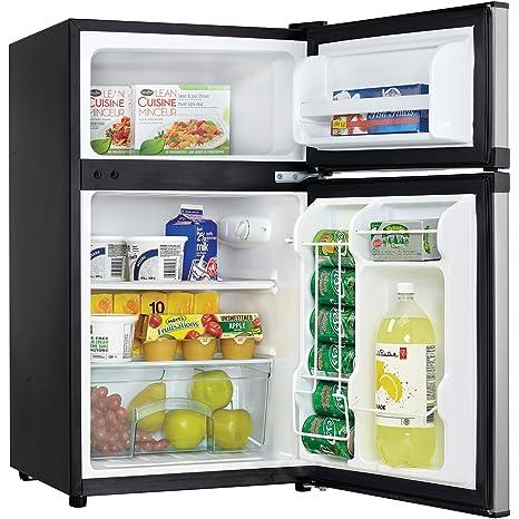 mini fridge with separate freezer