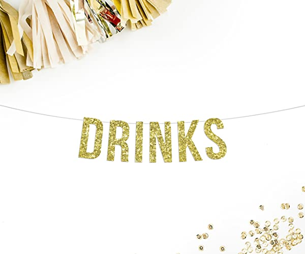 Amazon drinks party banner wedding reception decor drink drinks party banner wedding reception decor drink table bar sign junglespirit Gallery