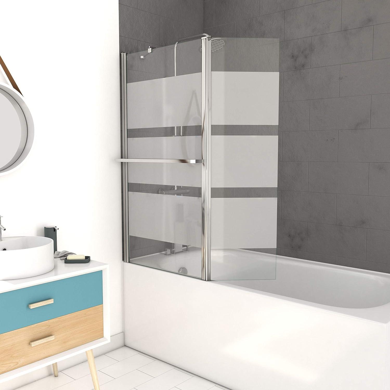 MARWELL Madrid - Mampara para bañera, color cromado: Amazon.es: Bricolaje y herramientas