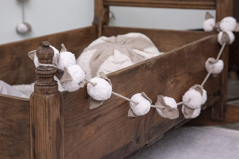 Lino Lorena Canals Ghirlanda da Parete Cotton Bolls 97/% Cotone 3/% Altre Fibre Avorio 150 cm