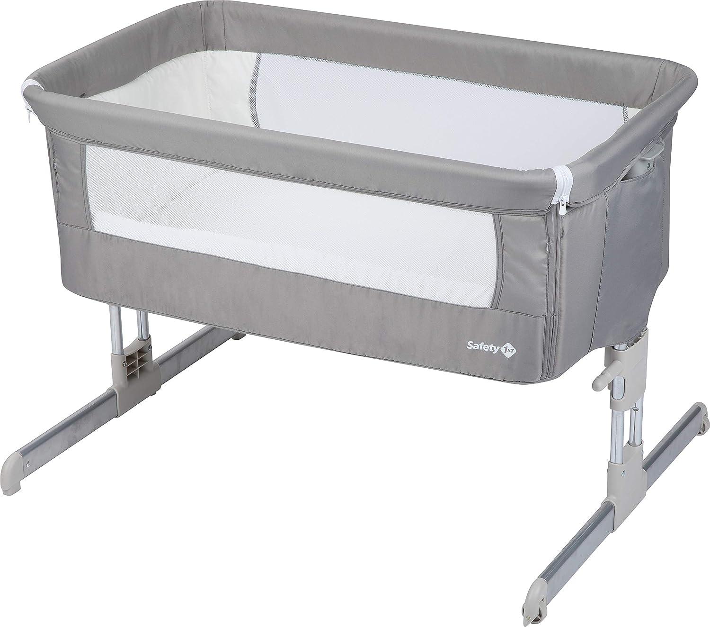 Safety 1st Calidoo Culla fianco letto, co-sleeping, con reclinazione e 7 altezze, lettino da viaggio per neonato, colore warm gray 2105191000