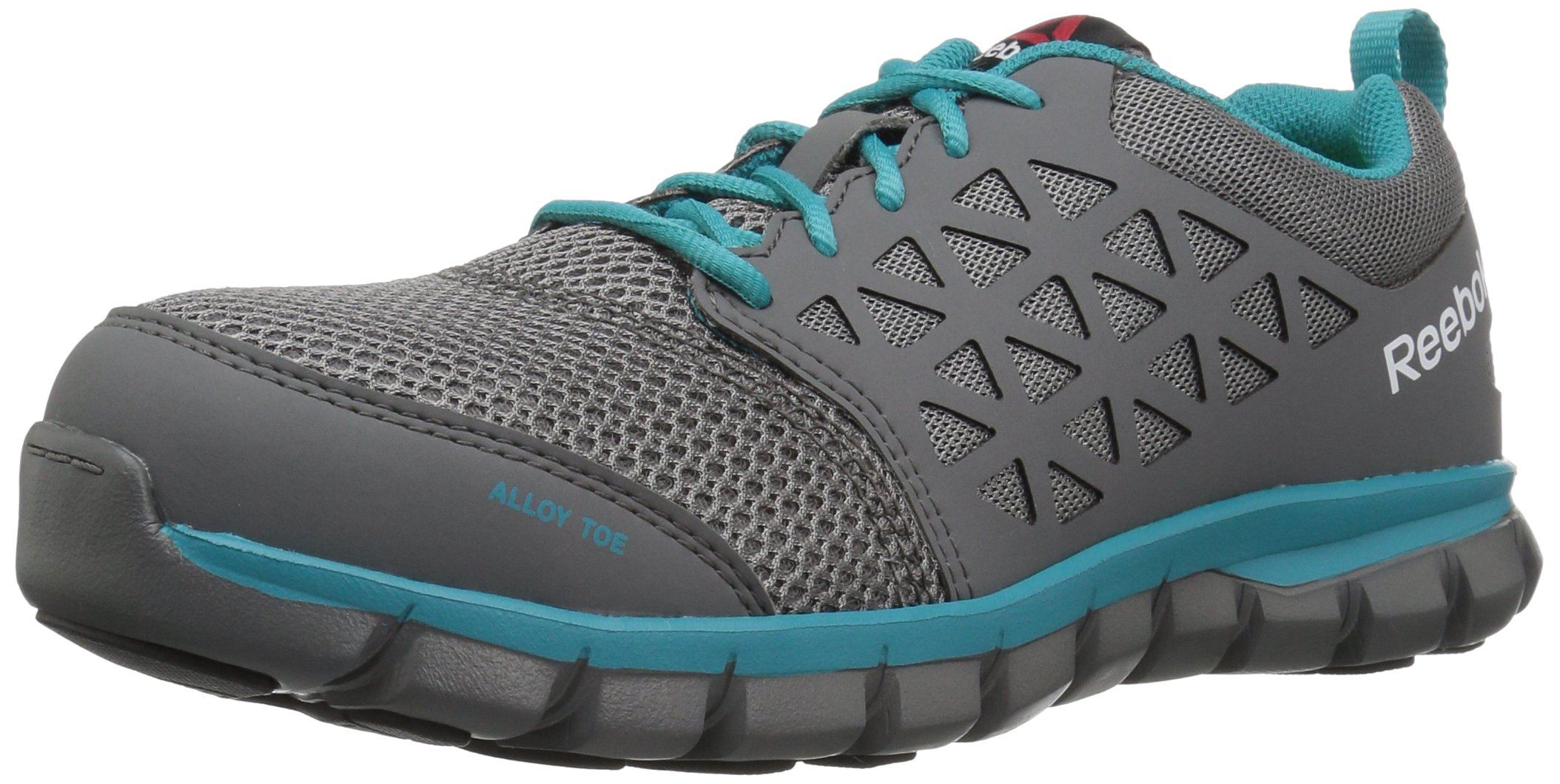 Reebok Women's Sublite Cushion RB045 Work Boot, Grey Turquoise, 7 M US
