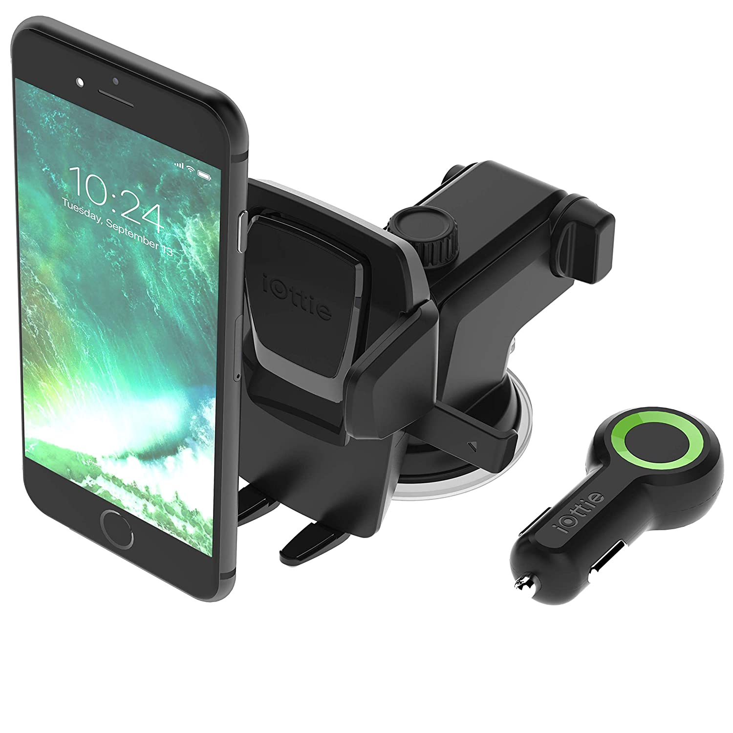 iOttie Easy One Touch 3 (V2.0) Car Mount Universal Phone Holder for iPhone X 8/8 Plus 7 7 Plus 6s Plus 6s 6 SE Samsung Galaxy S9 S9 Plus S8 Plus S8 Edge S7 S6 Note 8 5 HLCRIO120