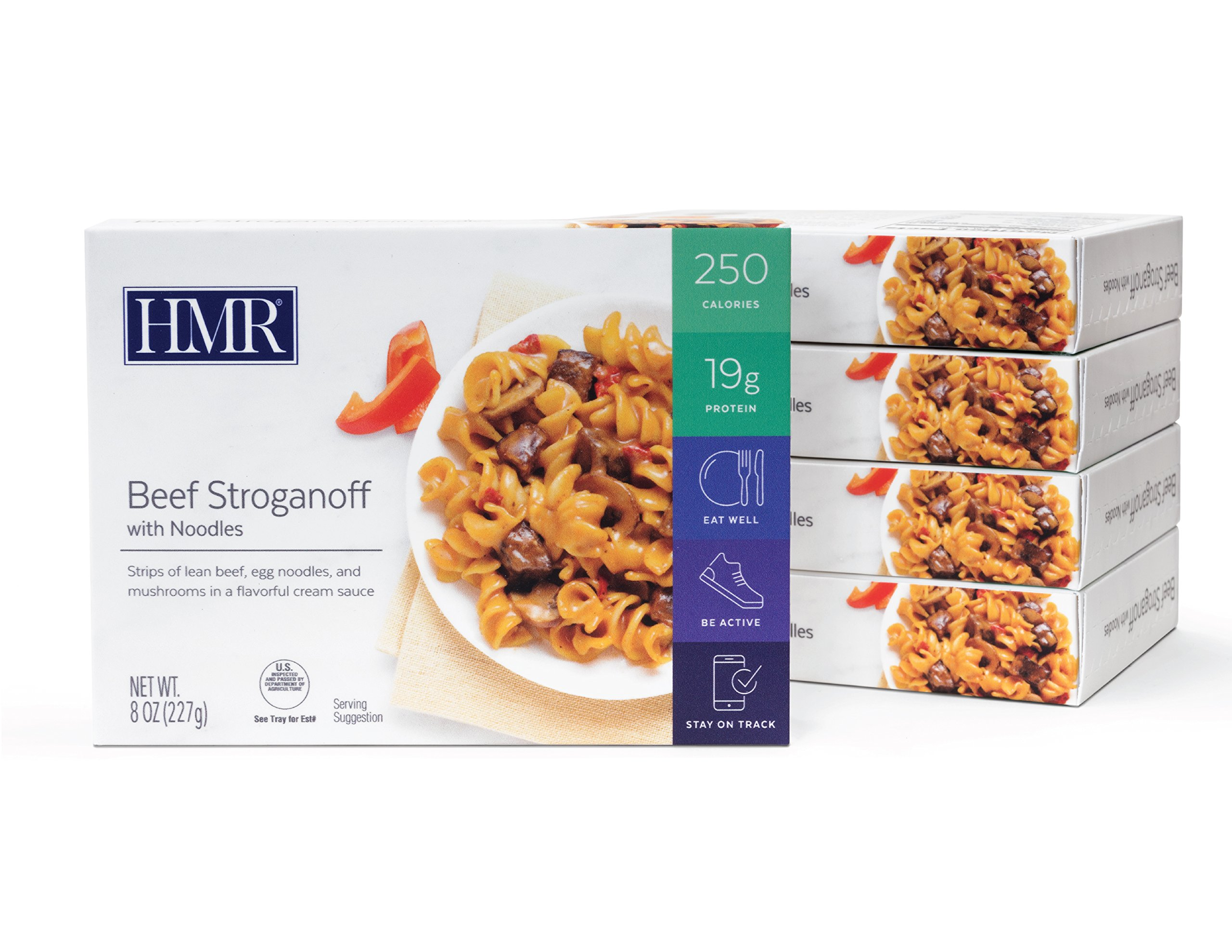 HMR Beef Stroganoff with Noodles Entree, 8 oz. servings, 5 count by HMR