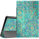 Fintie Slim Case for All-New Amazon Fire HD 10 Tablet (7th Generation, 2017 Release) - Ultra Lightweight Protective Stand Cover with Auto Wake/Sleep for Fire HD 10.1 Inch Tablet, Shades of Blue