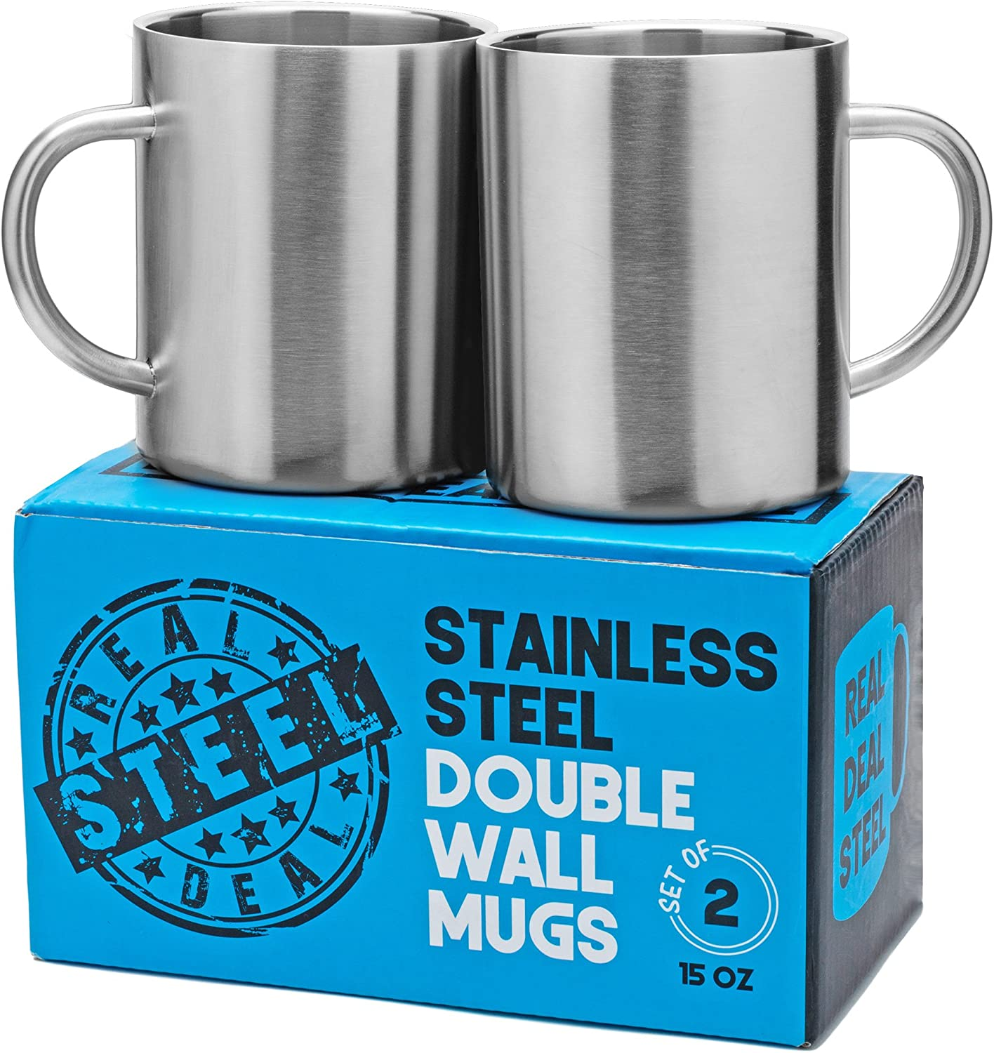 Drinking Cup Double Wall Stainless Steel For Travel Camping Tea Beer Coffee Mug