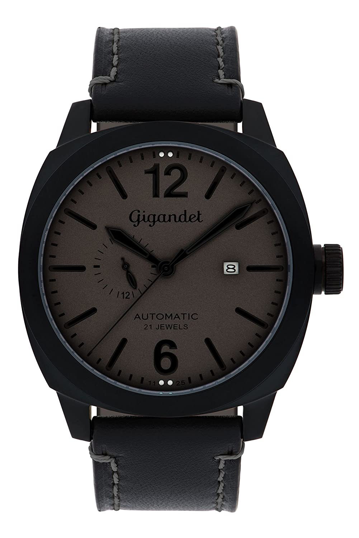Gigandet Automatik Herren-Armbanduhr Red Baron III Fliegeruhr Uhr Datum Analog Schwarz Grau G16-007