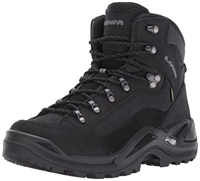 Lowa Men's Renegade GTX Mid Hiking Boot,Black/Black,8 ...