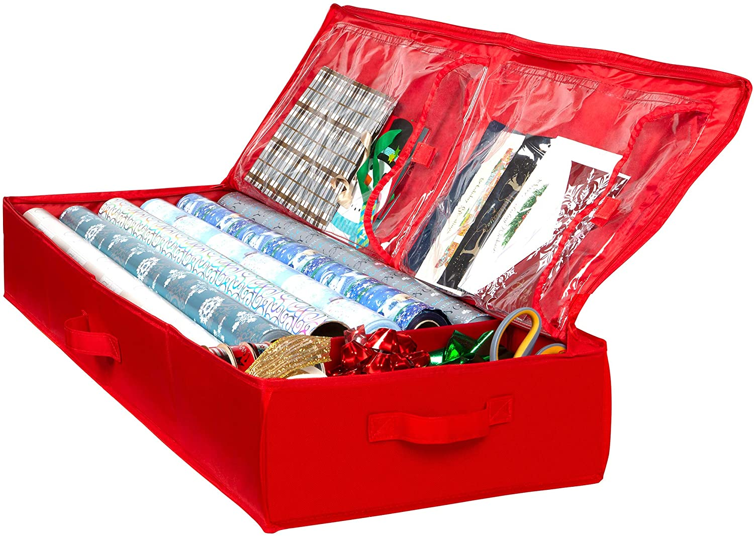 Christmas Xmas Wrapping Paper Storage Bag Gift Wrap Decoration Tidy Organiser