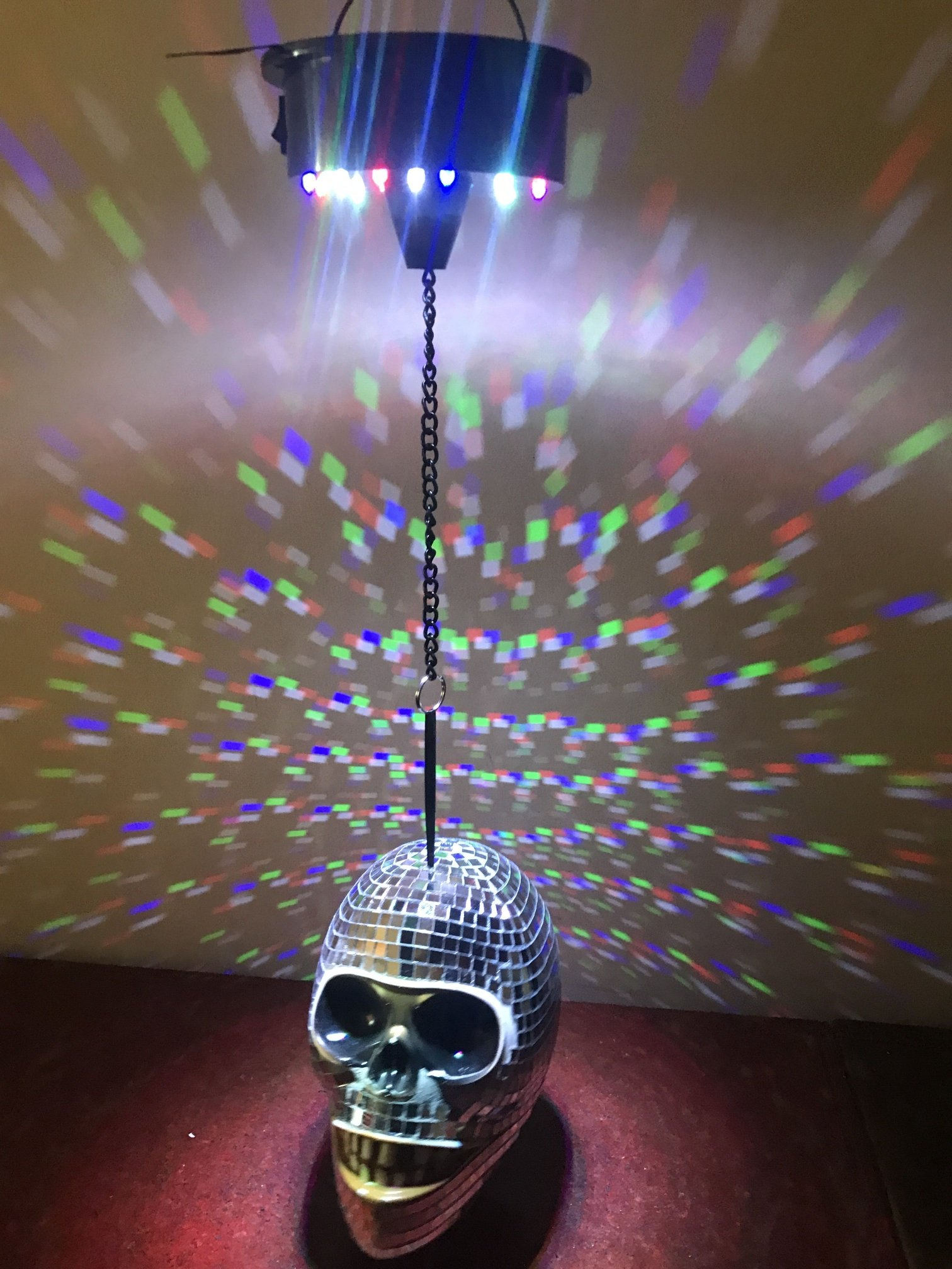 Lightahead Battery Operated Mirror Skull Disco Light with Sound Sensor for DJ Party Halloween Decorations by Lightahead (Image #2)