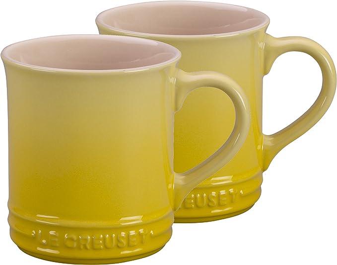 Le Creuset Sorbet Collection Mugs X2 Yellow//Blue