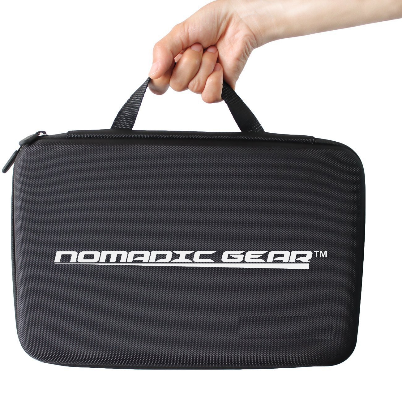 Nomadic Gear Large Carrying Case for GoPro, Sony Action Camera, Garmin, Ricoh Action Cam, SJCAM - Perfect for Travel and Storage - Versatile EVA Interior with Precise Fit Cut