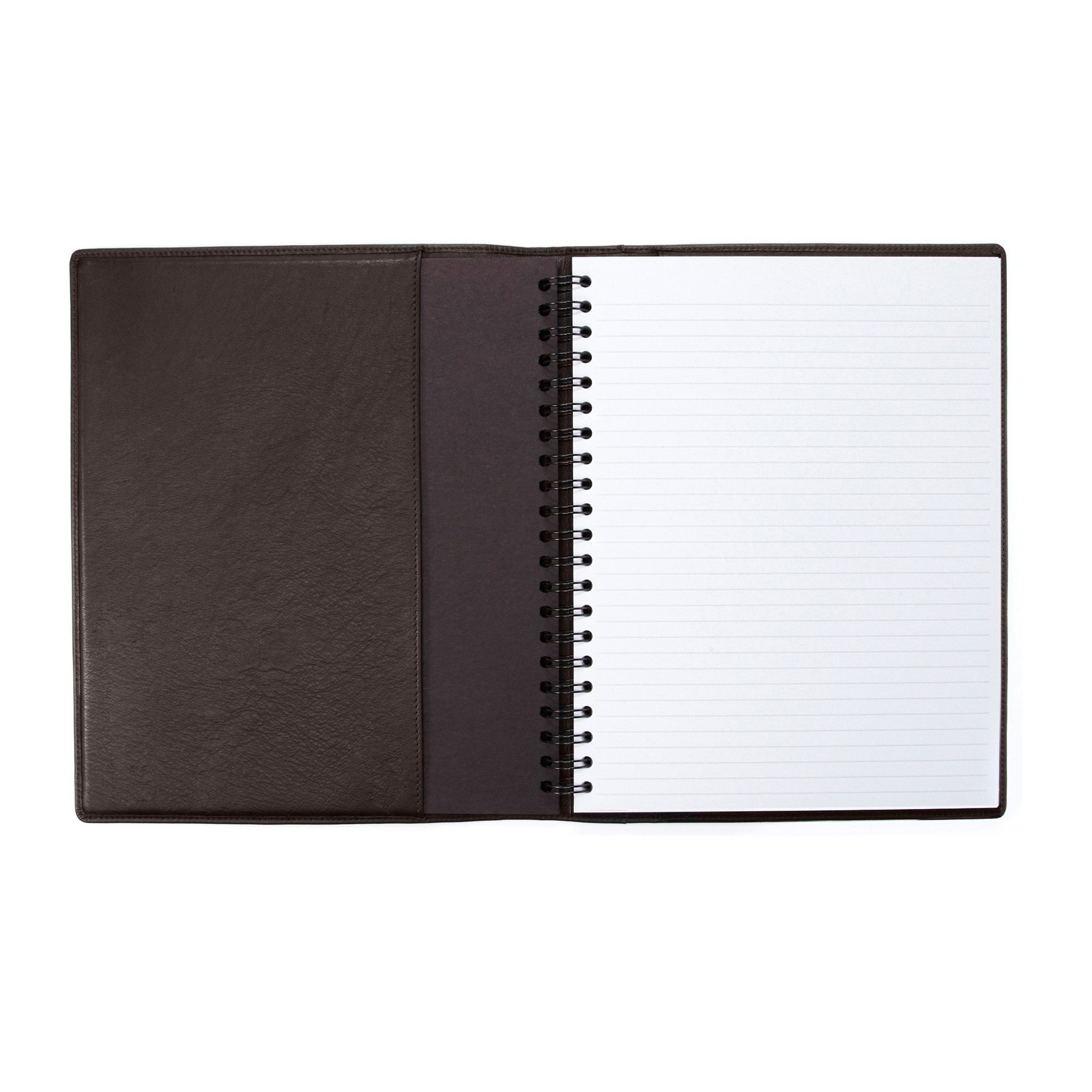 Large Notebook - Full Grain Leather - Chocolate Brown (brown)