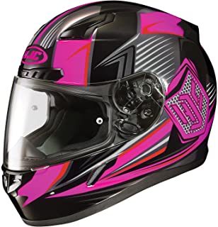 HJC CL-17 Striker Full-Face Motorcycle Helmet (Black/Pink, Medium