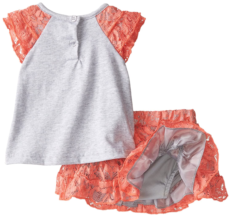 Little Lass Baby Girls 2 Piece Scooter Set Jersey Knit Lace