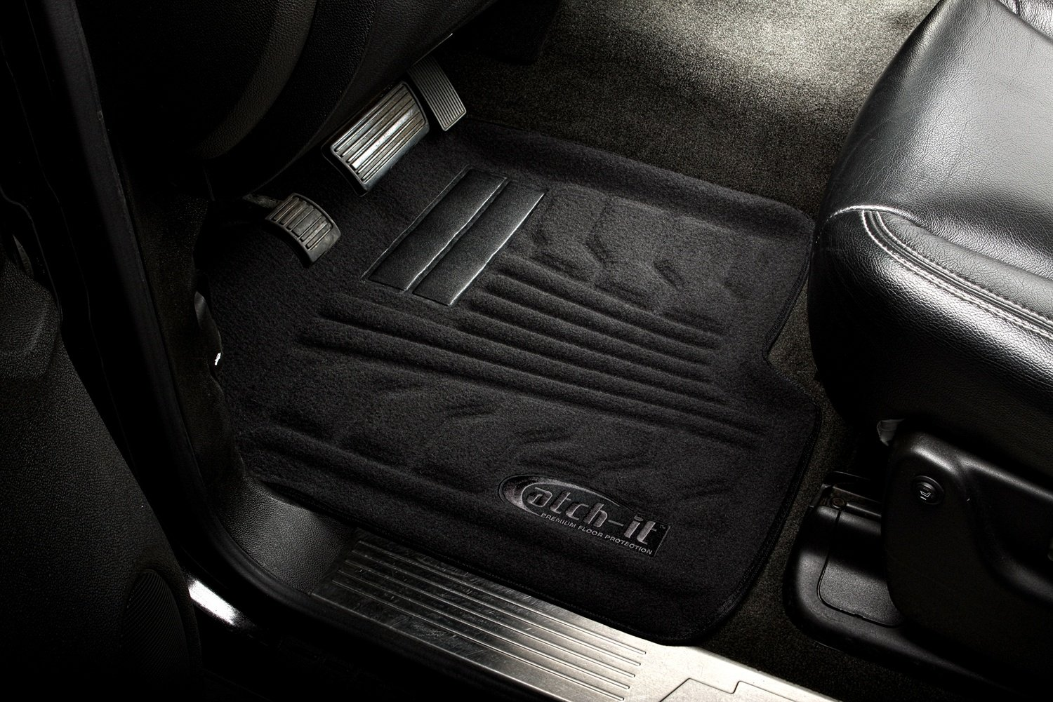 Set of 2 Lund 583048-B Catch-It Carpet Black Front Seat Floor Mat