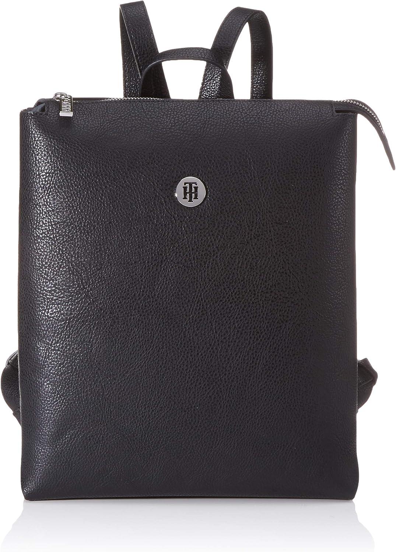 Tommy Hilfiger - Th Core Backpack, Mochilas Mujer, Negro (Black), 11.5x0.1x25.5 cm (W x H L)