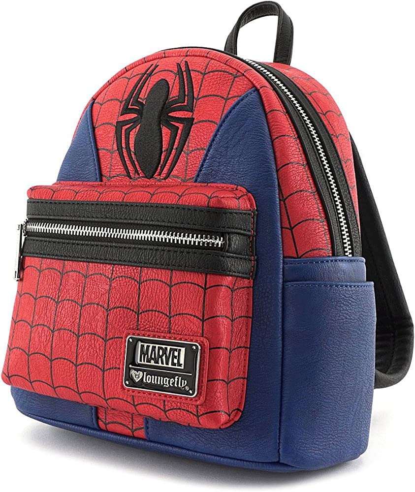 Loungefly Marvel Spiderman Traje x mini mochila de imitación ...