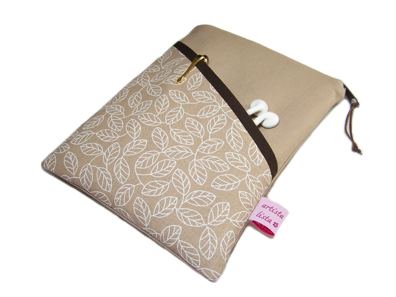 eReader Tasche eBook Reader Tablet Hülle Blätterrausch nussbraun, Maßanfertigung bis max. 10,9 z.B. für Tolino Epos
