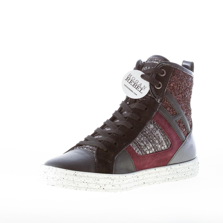 Hogan Rebel Donna R141 Patchwork Sneaker Alta Multicolore con Tweed e  Glitter Color Multicolore Size 40  Amazon.it  Scarpe e borse 39351afbaab