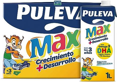 Puleva Max Leche de Crecimiento y Desarrollo - Pack 6 x 1Lt: Amazon.es: Alimentación y bebidas