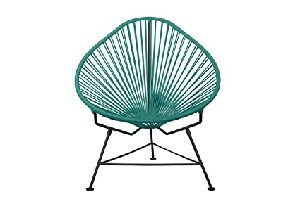 Innit Designs Acapulco Chair, Turquoise Weave On Black Frame