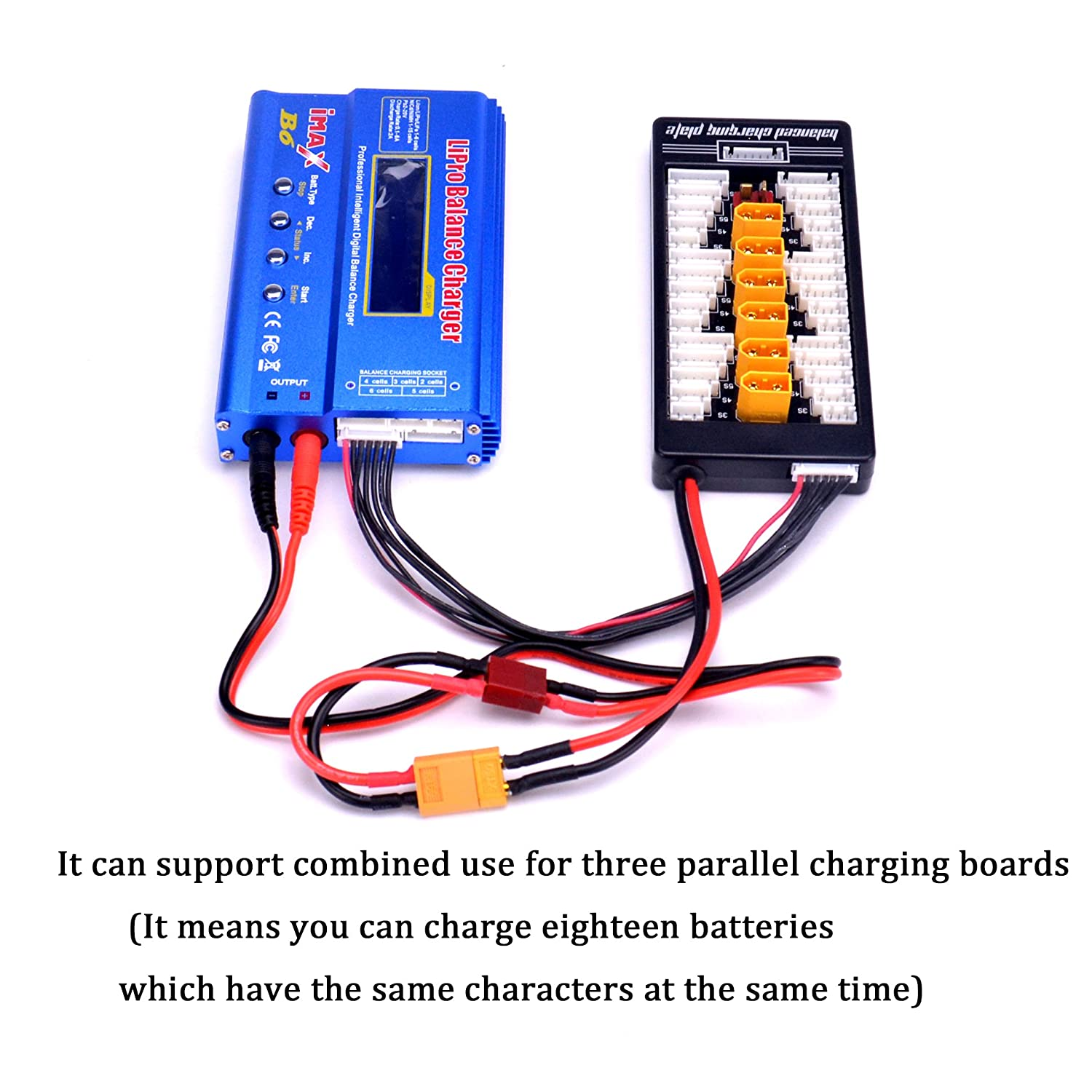 Fpvdrone Xt60 Lipo Battery Charger 2 6s Parallel Home Wiring In Series Or Along With Bank Balanced Charging Board Plate Expansion Plug For Imax B6 B6ac Cell