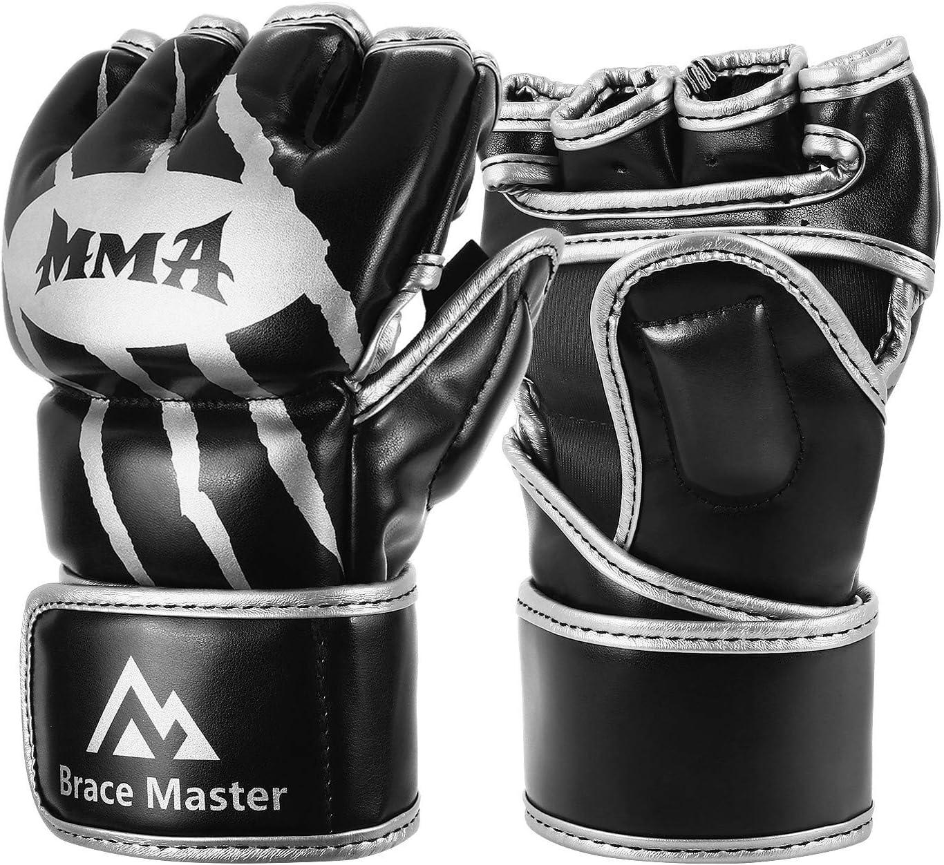 Paire Meister MMA Edge Cuir Prot/ège-Tibias Cou-de-Pied W//Rembourrage en Gel