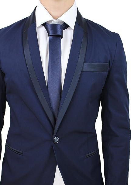 dcd65d0d31 Abito completo uomo sartoriale blu scuro elegante cotone raso made ...