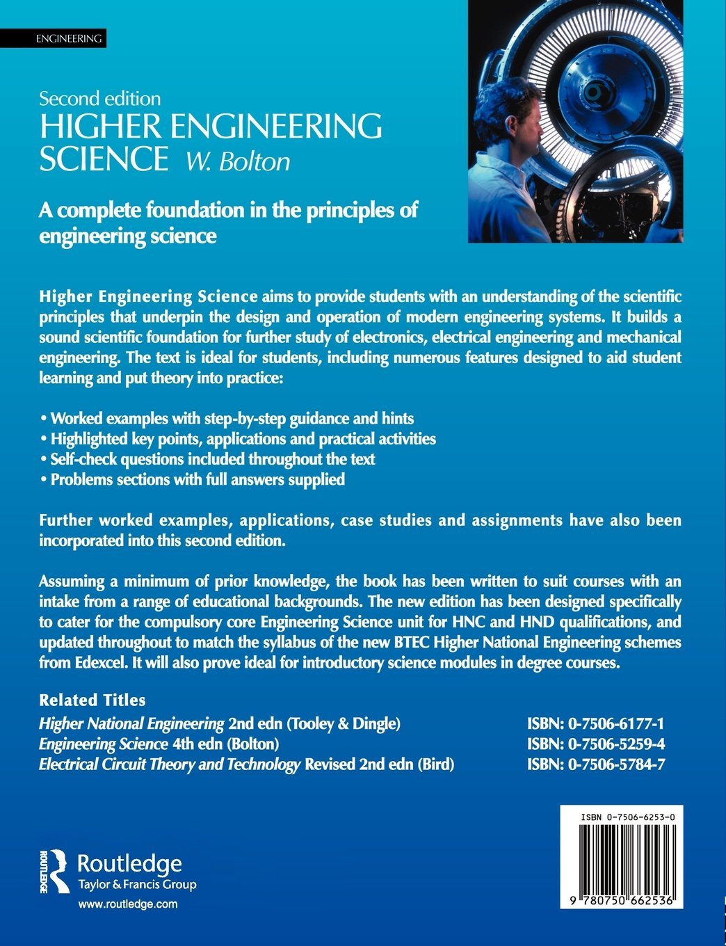 Higher Engineering Science Second Edition W Bolton Circuit Theory Description 9780750662536 Books