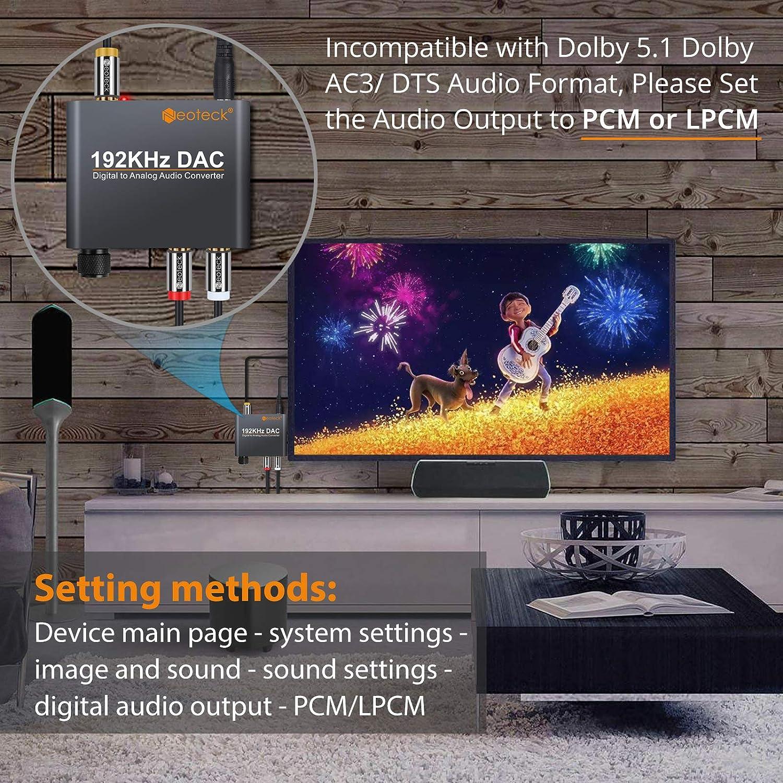 Neoteck 192kHz DAC Conversor Digital Óptical Coaxial Toslink a ...
