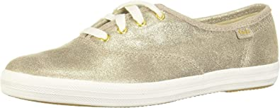 Keds Champion Glitter Suede Champagne