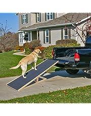 INMOZATA Pet Ramp Dogs Skidproof Slope Height Adjustable Foldable Pet Ramp Pet Ladder Wood for Car Van Travel (100 * 40cm(LXW), H30-40-50-60cm)