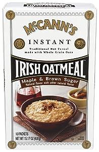 McCann's Maple & Brown Sugar Instant Irish Oatmeal, 10 Count