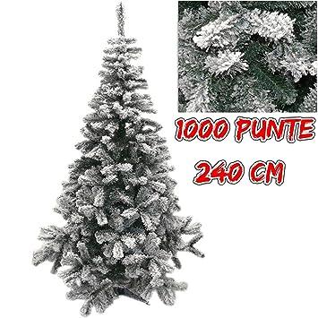 Weihnachtsbaum Künstlich 240 Cm.Verschneiter Weihnachtsbaum Grün Lappland Künstlicher Tannenbaum 240