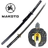 """MAKOTO Handmade Sharp Katana Black Japanese Samurai Sword 40"""""""