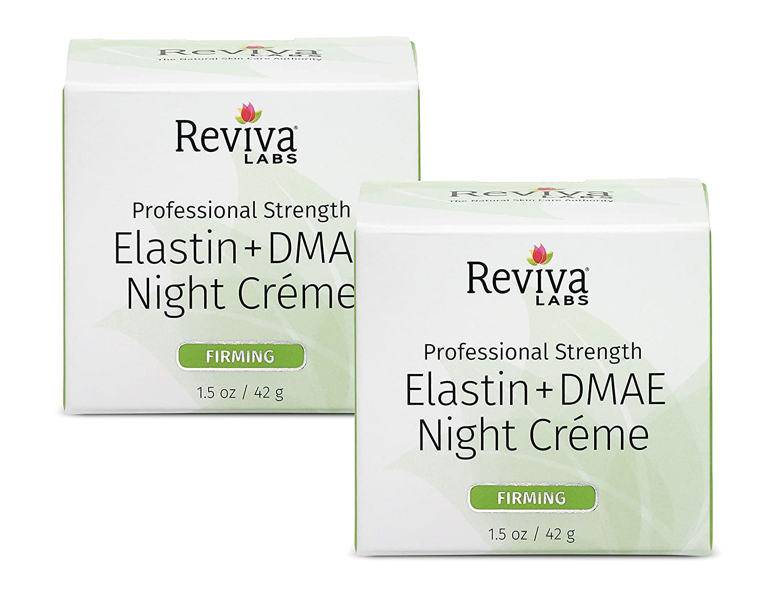 Reviva Labs Elastin & DMAE Night Cream, 1.5-Ounces (Pack of 2)