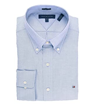 Tommy Hilfiger Mens Slim Fit Long Sleeves Button-Down Shirt at ...